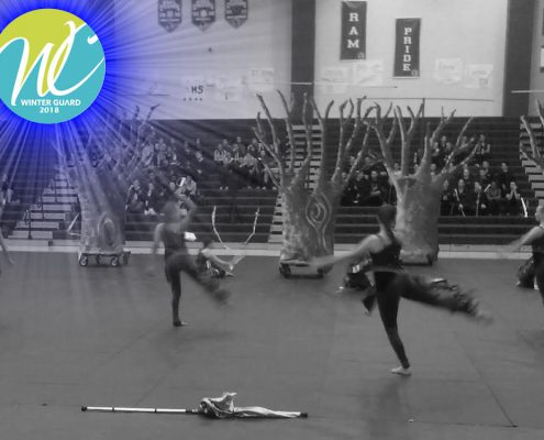 First performance in West Coast Winter Guard circuit